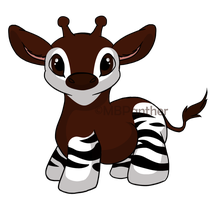 Okapi Doodle by MBPanther