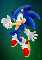 Sonic the Hedgehog by AriesFX