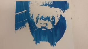 Screen Print Ferret by ValkarieCain