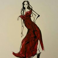 red dress by jhames34