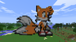 Tails Minecraft art by Tails1137