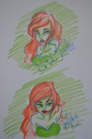 Poison Ivy Sketch by laveejay
