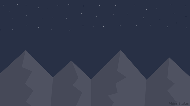 Night mountains  - wallpaper [4K or Full HD] by MilosKukic