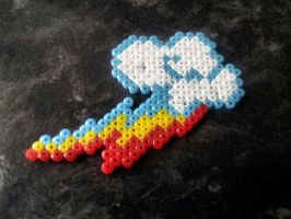 Rainbow Dash Hama Cutie Mark Pendants by Retr8bit