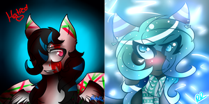 Three months apart art comparison by LacedStargazing