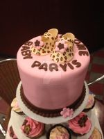 Leopard Print Baby Shower Cake by simplysweets