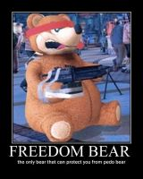 Freedom Bear by psyclonius