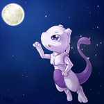 Young Mewtwo by MegasArtsAndCrafts