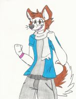 The-Scarf-Husky request by LucidFoxie