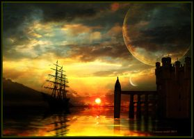 Arrival in port by turkill