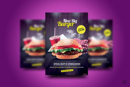 The New Big Burger Flyer by YczCreative