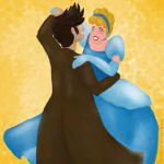 Art Request 04: Tenth Doctor + Cinderella dancing by DarkMysteryCat