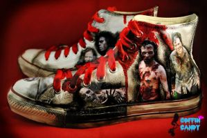 The Walking Dead Chucks by dwellicious