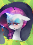 Rarity working on a thing by Dhui