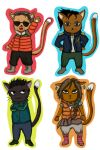 Far Cry 4 cats by Elisabethianna