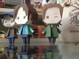 'Hello, Trickster' - Papercraft Gabriel - SPN by Yolapeoples