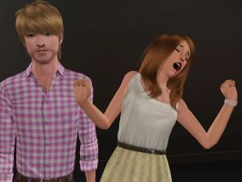 Pewdiepie and Cutiepie 3- Sims 3 by missxmello