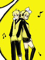 Yellow twins by LaFoxtriel