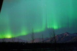 Knik River Aurora by Line-of-Birds