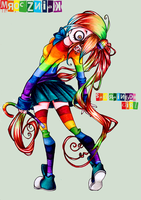 + Sad Rainbow Girl + by MroczniaK