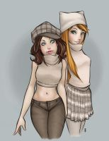 Aki and Des by girlunderwater