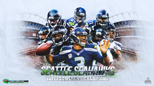 Seattle Seahawks - Super Bowl XLVIII Champions by TheHawkeyeStudio