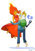 Ice Price And Flame Princess :') by Kmy-Kce