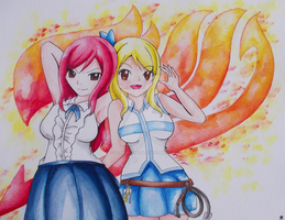 FT Lucy And Erza by OtakuFish95