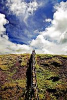 Kirkcudbright Road: wall+sky1 by Coigach