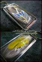 Feather Painting Keychain 4 by dittin03