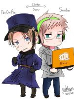 PewDiePie and Sweden Fanart by Akiraka-chan