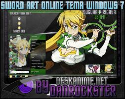Leafa Theme Windows 7 by Danrockster