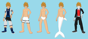 KH ToO- Roxas world outfits by Dinalfos5