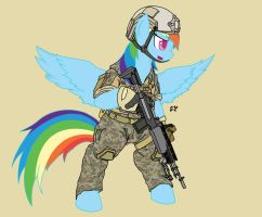 Warfighter Rainbow Dash by Miniyippo