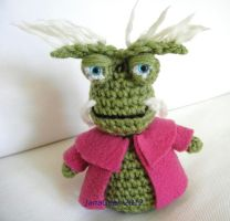 Farscape Rygel Crochet Doll by janageek