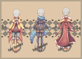 Costume adoptables 5 (CLOSED) by Epic-Soldier