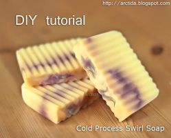 DIY Cold Process Swirl Soap Tutorial by Arctida