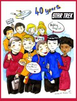 40 years Star Trek by VenusKaio
