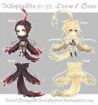 [CLOSED] Adoptables 51~52: Crow + Dove by Serendipiter