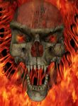 Flaming Skull by dmccoy1693