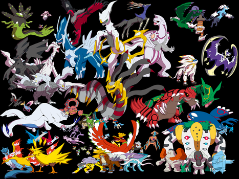 All the Legendary Pokemon by iiDrBubbles