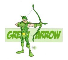 Green Arrow Colored by tyrannus