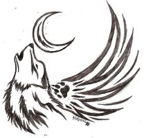 Howling Wolf Tattoo by Shiranui1