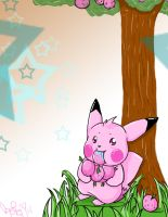 Pink Pikachu by SolbiiMelody