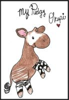 My Pudgy Okapi by ZebraRaine