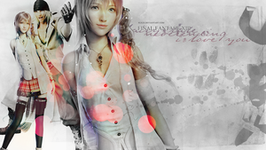 Serah and Snow wall by Rukiii