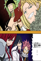 Fairy Tail Chapter 291- Fairy Tail A vs Sabertoot by Natsu9555