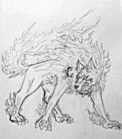 InuYasha demon dog form by DarkKingM