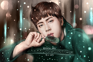 BTS Jin (You Never Walk Alone) Fanart by KekeLiv