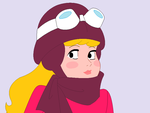 Cute smile of Penelope Pitstop - pixel art by JustAGirlMakesBases